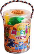 Набір тіста для ліплення Strateg Містер тісто 7 кольорів з блискітками 71106