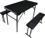 Комплект мебели Time Eco ТЕ-1840 (стол и две лавки) серый