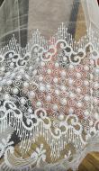 Ткань тюлевая 290 см белая 9208