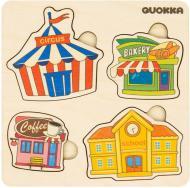 Пазл-вкладиш Quokka 4 Будівлі 6333901
