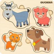 Пазл-вкладиш Quokka 4 Свійські тварини 6333902