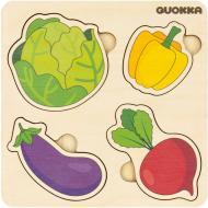 Пазл-вкладиш Quokka 4 Овочі 6333904
