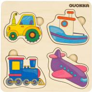 Пазл-вкладиш Quokka 4 Транспорта 6333906