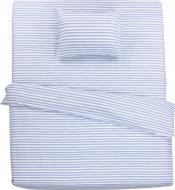 Комплект постільної білизни 1,5 смужка Акварель блакитна UP! (Underprice)