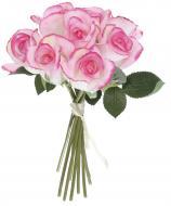 Рослина декоративна Букет троянд 30 см біло-рожевий 9