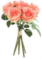 Рослина декоративна Букет троянд 30 см світло-помаранчевий 6