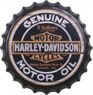 Декор настенный Крышка от бутылки Harley-Davidson d40 черный