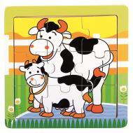 Пазл дерев'яний Bino Пазл - Корова, 9 дет.