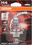 Лампа галогенна OSRAM Night Breaker Laser +130% H4 P43t 12 В 55 Вт 1 шт 3950 K