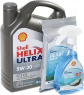 Моторне мастило SHELL Helix Ultra ECT C3 + Антилід 0,5 л + серветки для скла 20 шт 5W-30 4л
