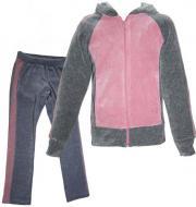 Спортивний костюм Lejeko р. 104 рожевий із сірими вставками 0089.1