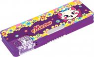 Пенал школьный с точилкой Cat in Flowers 7013 CF85952 Cool For School фиолетовый