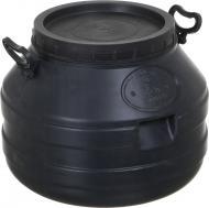 Бідон Г35 л, діаметр 43 см, висота 33 см, ПБ, чорний, нехарчовий