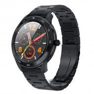 Умные смарт часы NO.1 DT98Metalс измерением артериального давления Черный (swno1dt98metbl)
