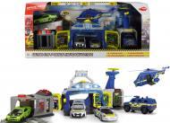 Ігровий набір Simba Поліцейский штаб 4 машини +1 гелікоптер 3719011