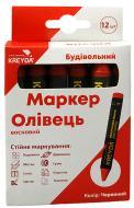 Мел KREYDA CW606316 маркировочная восковая красная 13 мм