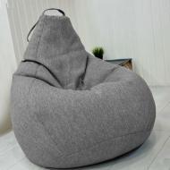 Кресло мешок груша Beans Bag микро-рогожка 85 х 105 см Меланж (hub_un1b6r)