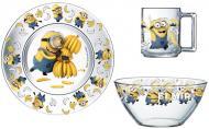 Набір дитячого посуду Minions 3 предмета Disney