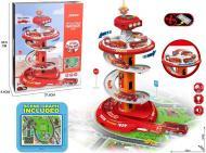 Ігровий набір Shantou Паркінг Поліція зі світловими і звуковими ефектами червоний OTE0650293