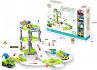 Ігровий набір Shantou Паркінг з автомобілями зелений OTG0908356