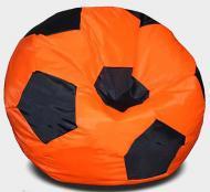 Кресло мешок Мяч Beans Bag Оксфорд 50 см Оранжевый+Черный (hub_9hjjpc)