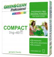 Порошок для машинного та ручного прання Green&Clean Compact 3 кг