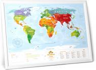 Інтерактивна карта світу Travel Map Kids Animals (тубус)