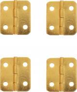 Петля декоративная золото фигурная 30х27 мм 4 шт.