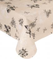 Скатертина Квіти 120x150 см бежевий Underprice