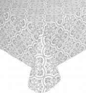 Скатертина 140x180 см чорно-білий Underprice