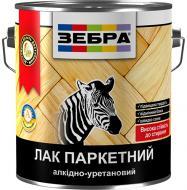 Лак паркетний ZEBRA глянець 2,5 л