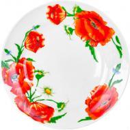 Тарілка обідня Червоні маки 19 см 21-206-098 Оселя