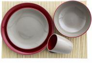 Сервіз столово-чайний Due mocco-red 24 предмети на 6 персон Appetite