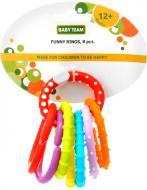 Іграшка-прорізувач Baby Team Забавні кільця 8 шт