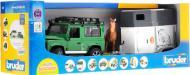 Джип Bruder Land Rover Defender з причепом і фігуркою коня 1:16