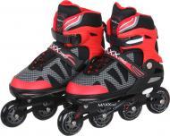 Роликовые коньки MaxxPro YX-0151-4WR р. 39-42 красный с черным