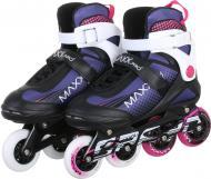 Роликовые коньки MaxxPro YX-0119-6ZW р. 38 черно-розово-белый