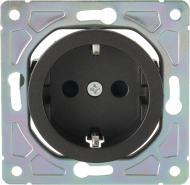 Механізм розетки із заземленням HausMark Bela без кришки чорний SNG-SCP.RD20MG1WG-BK