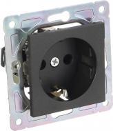 Механізм розетки із заземленням HausMark Alta без кришки чорний SNG-SCP.SQ20MG1WG-BK