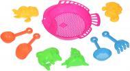 Игровой набор Same Toy для игр с песком 9 единиц розовый B002-2Ut-2