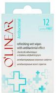 Вологі серветки O'Linear освіжаючі з антибактеріальним ефектом 12 шт.
