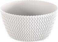 Кашпо пластикове Prosperplast Splofy Low круглий 3.8л (25975-449) білий