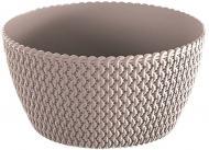 Кашпо пластикове Prosperplast Splofy Low круглий 3.8л (25975-7529) мокко