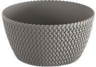Кашпо пластикове Prosperplast Splofy Low круглий 3,8л сірий (25975-405)