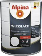 Эмаль алкидная Alpina Weisslack белый глянец 0.75л