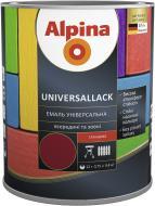 Эмаль алкидная Alpina Universallack темно-коричневый глянец 0.75л