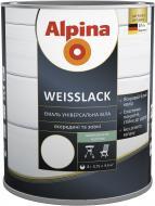 Эмаль алкидная Alpina Weisslack белый шелковистый мат 0.75л