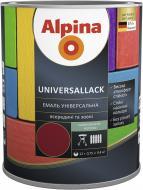 Эмаль алкидная Alpina Universallack темно-коричневый шелковистый мат 0.75л