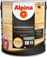 Лак Fussbodenlack Alpina шовковистий мат 2.5 л прозорий