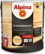 Лак Fussbodenlack Alpina глянец 2.5 л прозрачный